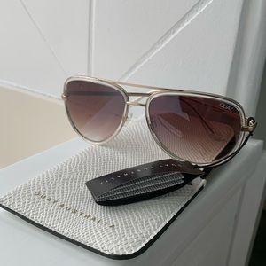 Quay Australia All In Aviator Sunglasses
